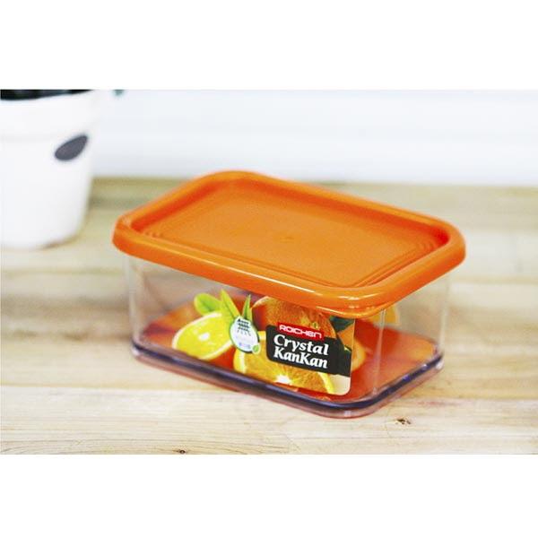 5개묶음x크리스탈 칸칸용기 460ml-플라스틱밀폐용기 냉장고정리용기 밀폐용기 크리스탈밀폐용기 음식보관용기 UNG0395 wd_UNG